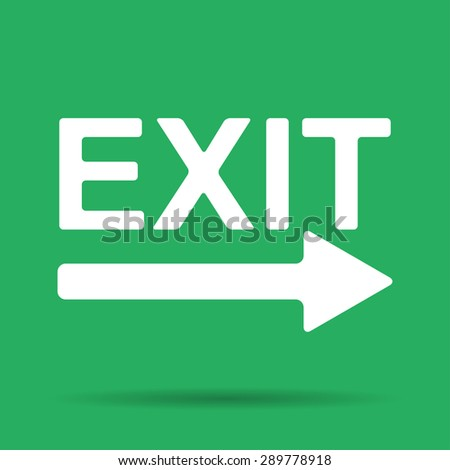 Exit icon - vector illustration. Flat design style - stock vector
