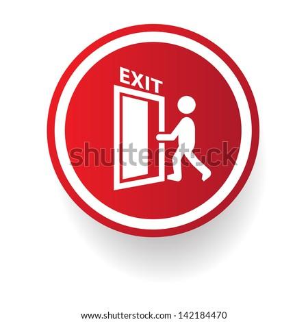Exit symbol,vector - stock vector