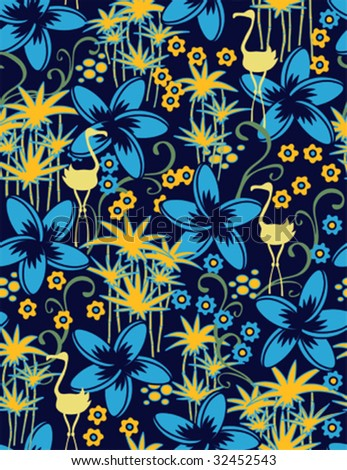 Exotic seamless pattern - stock vector