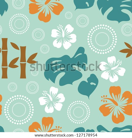 Exotic seamless pattern. Vector format - stock vector