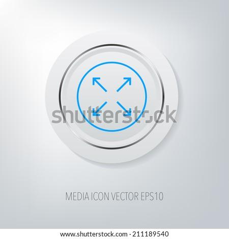 Expand button. - stock vector