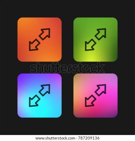 expand hand drawn interface symbol two stock vector 787209136