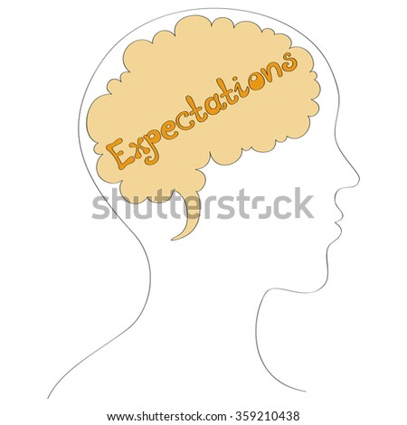 Expectations vector background - stock vector