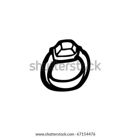 expensive ring cartoon - stock vector