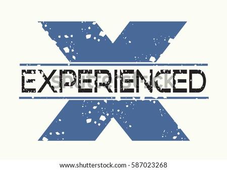 experienced logo vector