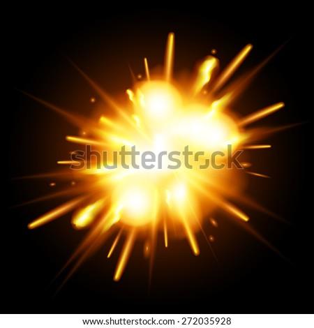 Explosion - stock vector