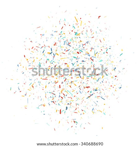 Explosion cloud festively colored shards - stock vector