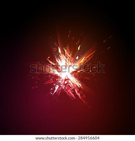 explosion grunge background, easy editable - stock vector