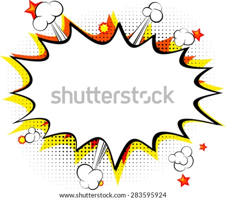 Explosion, isolated retro style comic book background. - stock vector