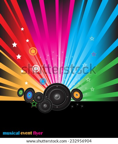 Explosion of colors background for your party flayers, posters or brochure.