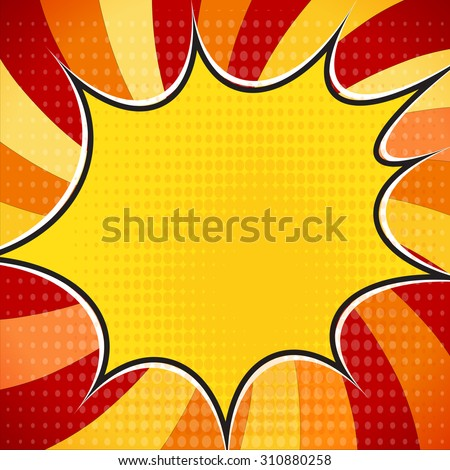 Explosion steam bubble pop-art vector - funny funky banner comics background. this also represents a big bang, thunder, emphatic explosion, roaring voice, scream, booming vehicle - stock vector