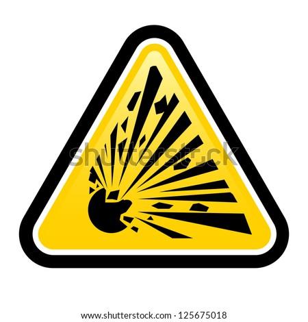 Explosive Hazard Sign.  Illustration on white background for design - stock vector