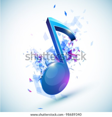 Explosive vector note illustration - stock vector