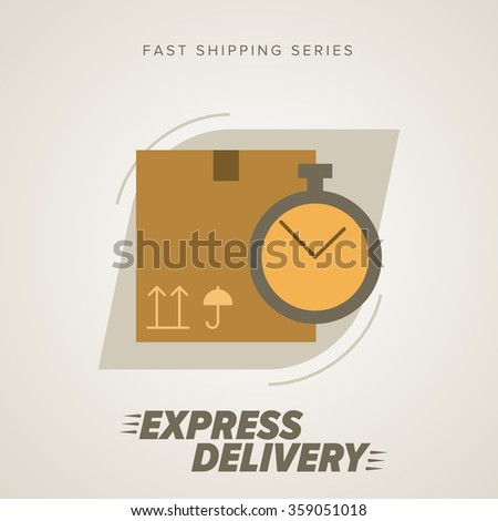 Express Delivery Icon, Cargo Delivery. Express Delivery Package. Post Service, Order. Symbol of Express Delivery. Express Delivery Vector Icon. Delivery Goods, Shipping Service, Delivery Vector Sign. - stock vector