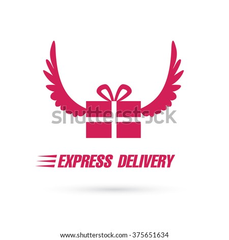 express delivery sign - stock vector