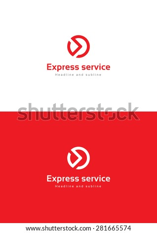 Express service logo teamplate. - stock vector