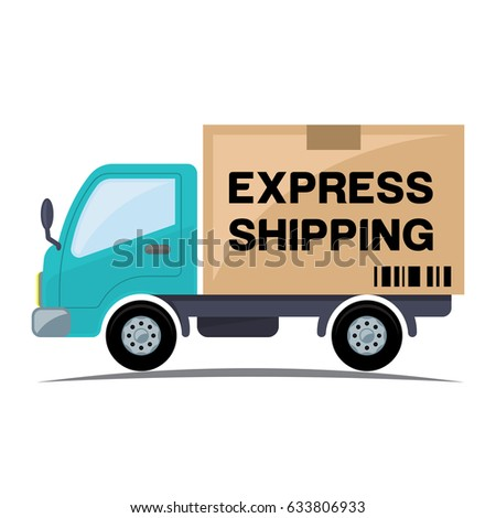 Express shipping icon with truck
