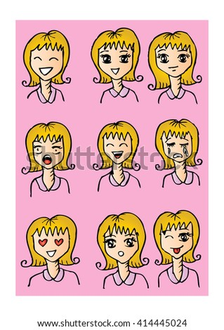 Expression of multiple girl