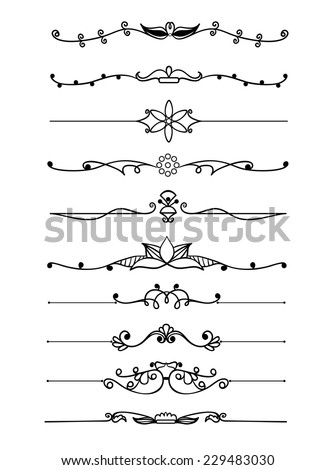 Exquisite Ornamental and Page Decoration Designs elements. - stock vector