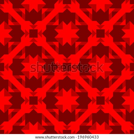 Exquisite tiled pattern with arrows and halftone red color scheme.