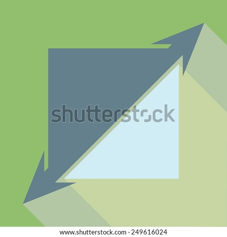 Extend, Re-size, Enlarge With Shadow.Vector illustration - stock vector