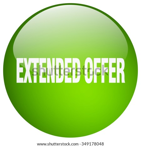 extended offer green round gel isolated push button