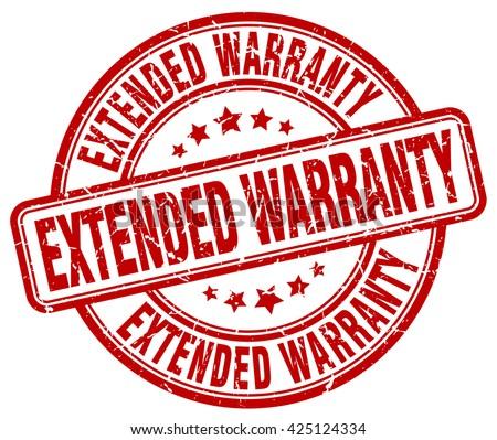 extended warranty red grunge round vintage rubber stamp.extended warranty stamp.extended warranty round stamp.extended warranty grunge stamp.extended warranty.extended warranty vintage stamp. - stock vector