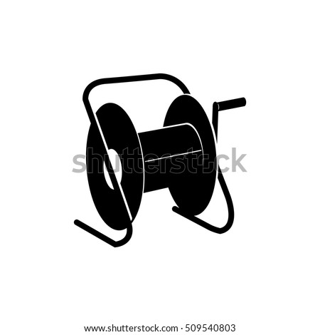 Extension Cord Storage Reel Icon Stock Vector HD (Royalty Free ...