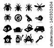 Exterminator Icons - stock photo