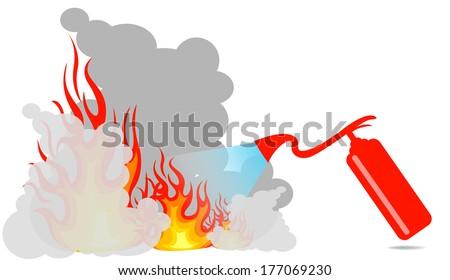 Extinguisher - stock vector