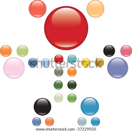 extra glossy buttons set. vector