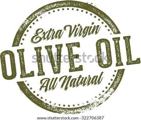 Extra Virgin Olive Oil Product or Menu Stamp