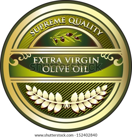 Extra Virgin Olive Oil Vintage Label - stock vector