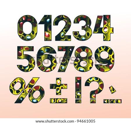 extraterrestrial  figures - stock vector