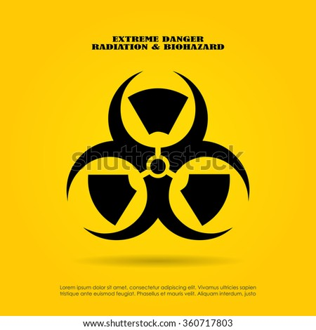 Extreme Danger Symbol Radiation Biohazard Mix Stock Vector 360717803