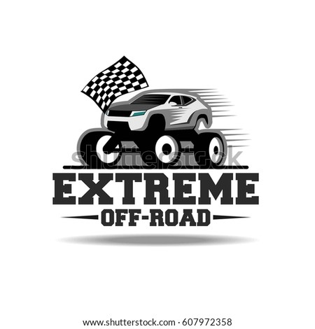 Off Road Extreme Suv Safari Trip Stock Vector Shutterstock