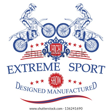Extreme sport - stock vector