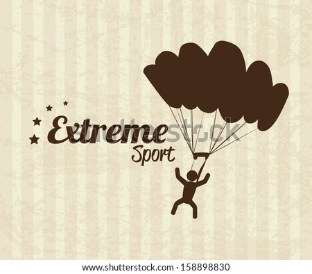 extreme sport over lineal background vector illustration - stock vector