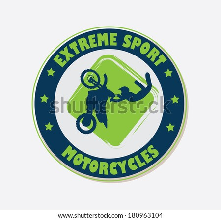 extreme sport over  red background vector illustration - stock vector
