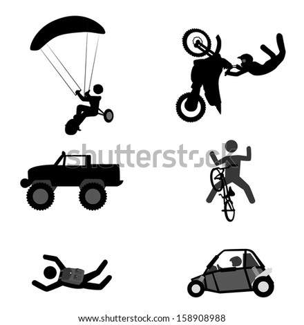 extreme sport over white background vector illustration - stock vector