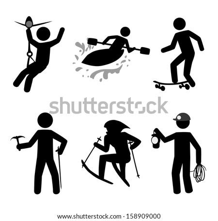 extreme sport over white background vector illustration - stock vector