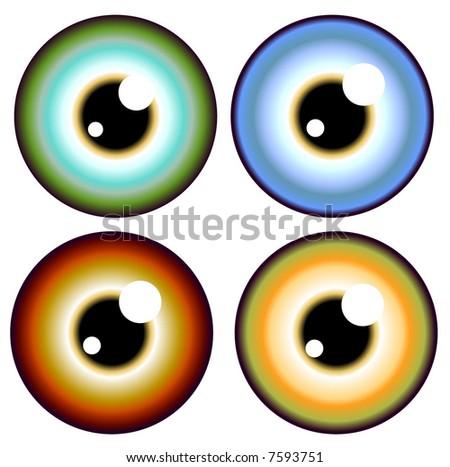 eye ball - stock vector