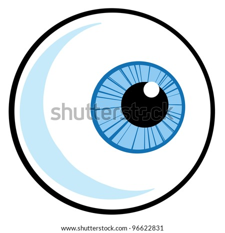 Eye Ball. Jpeg version also available in gallery. - stock vector