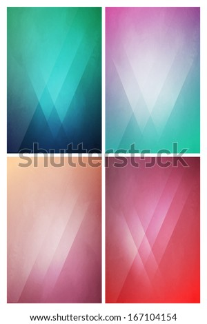 Eye-Catching flat background with Gradient Effect - stock vector