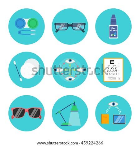 Eye Health Hygiene Vector Set Contact Stock Vector 459224266 ...