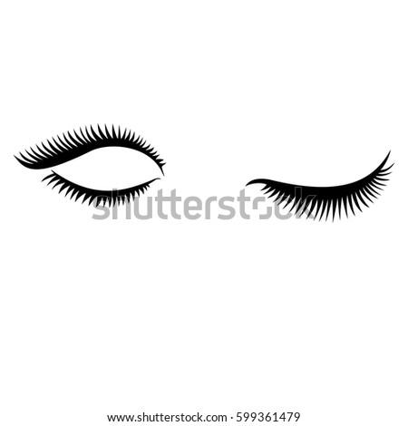 eye lashes vector icon lashes vector stock vector 599361479