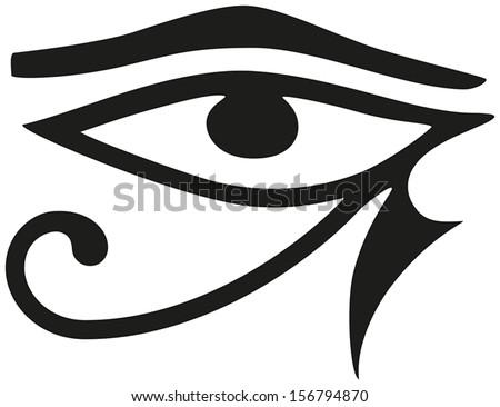 Eye Horus Eye Horus Ancient Egyptian Stock Vector 2018 156794870