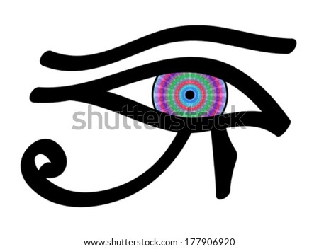 Eye of Horus, vector - stock vector