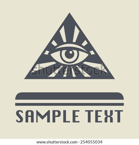 Eye Of Providence icon or sign, vector illustration - stock vector