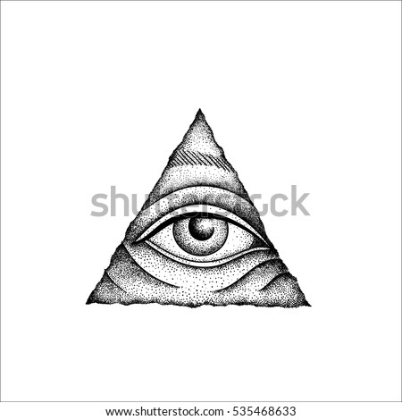 Eye Of Providence Masonic Symbol All Seeing Inside Wooden Triangle Pyramid New